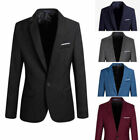 Men's Formal Slim Fit One Button Suits Blazer Business Coats Jacket Casual Tops