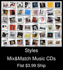 Styles(78) - Mix&Match Music CDs - $3.99 flat ship