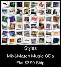 Styles(97) - Mix&Match Music CDs - $3.99 flat ship