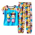 Disney TSUM TSUM Girls Pajamas Size 4 6 8 10 12 Top/Pant Minnie Mouse Mickey NEW