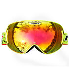 Ski Snowboard Goggles for Men and Women(Girls) ,Red,Pink,Orange,Fluo Yellow