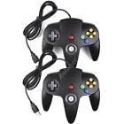 Retro 64 N64 & SNES USB Controller Gamepad Black Classic Wired for PC Mac Games
