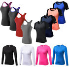 Women's Athletic Gym Training Yoga  Running Vests Moisture Wicking Sportswear