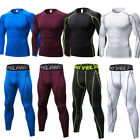 Mens Compression Tights Workout Base Layers Running Soccer Yoga Cycling Gym Sets