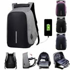Anti-theft Mens Womens Laptop Notebook Backpack USB Charging Port School Bag New