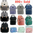 LAND Maternity Nappy Baby Diaper Bag Capacity Mommy Bag Travel Backpack w/ Hooks