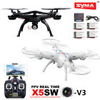 Syma X5SW-V3 2.4G RC Drone Quadcopter with WIFI HD Camera +5 Batteries & Charger