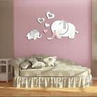 Elephant Mirror Wall Sticker DIY Removable Art Baby Kids Room Decor Mural Decals