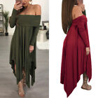 USA Pregnant Women Off Shoulder Long Maternity Dress Gown Photo Photography