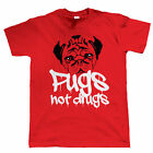 Pugs Not Drugs, Funny Mens T Shirt