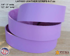 Lavender Latigo Leather Strips 6-7 oz - up to 96 in long - Craft, Accessories US