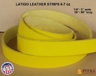 Yellow Latigo Leather Strips 6 -7 oz, up to 3 in wide - up to 96 in long - Craft
