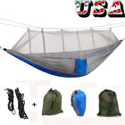 Outdoor Double Person Hammock Tent With Mosquito Net Portable Hanging Bed US