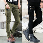 Fashion Men Designer Trousers Chinos Stretch Skinny Slim Fit Jeans