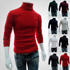 Men's Winter Slim Shirts Pullover Jumper High Neck Turtleneck Knit Sweater Tops