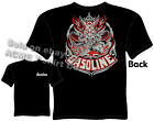 Pinstripe Hot Rod T Shirt Tiki Gasoline Shirt Garage Tee Kustom Kulture Clothes
