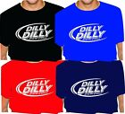 DILLY DILLY drinking man's T-Shirt To the Pit of MISERY adult oval bud light