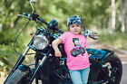 Betty Boop On The Motorcycles Girls, Kids Quality T-Shirt Short Sleeve Top £9.99 GBP