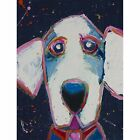 Starry Night-Dog Art Wall Print Dog Wall Hanging by Michelle Rivera