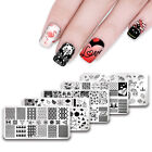 UR Sugar Rectangle Nail Art Stamping Plates Valentine's Day Templates Tools