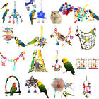Pet Bird Toys Chew Bell Ball Parrot Cockatiel Swing Net Cage Hang Toys Budgie