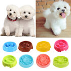 Dog Slow Down Eating Feeder Dish Pet Cat Puppy Feeding Food Bowl Multi-colored