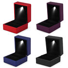 LED Light Earring Ring Gift Box Wedding Engagement Rings Jewelry Display Box