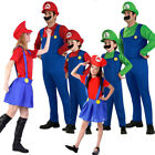 Kyпить Men Women Adult Kid Super Mario Luigi Bros Fancy Plumber Costume World Book Day на еВаy.соm
