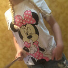 Womens Mickey Minnie Mouse Casual T-Shirt Short Sleeve Blouse Slim Fit Tee Tops