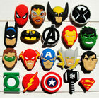 Внешний вид - 2pcs Avengers PVC Shoe Charms Shoe Accessories/Decor Fit Bracelets JIBZ
