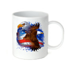 Coffee Cup Travel Mug 11 15 Oz Patriotic USA America American Eagle Decorative