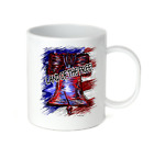 Coffee Cup Travel Mug 11 15 Oz Patriotic USA Land Of The Free Liberty Bell
