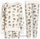 NEXT LADIES CUTE AND COSY FULL LENGTH WOODLAND ANIMAL DESIGN PYJAMAS SML,MED,LGE