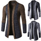 Mens Slim Fit Knitted Cardigan Sweater Long Sleeve Casual Knitwear Jacket Coat