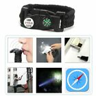 LED SOS Bracelet Multifunctional Survival Kit for Outdoor Camping Hiking PN