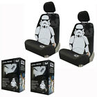 New White & Black Star Wars Stormtrooper Front Pair Low Back Car Seat Covers $49.98 USD on eBay