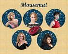 TOP HOLLYWOOD ACTRESS  ROUND MOUSEMAT CAN BE PERSONALISED FREE OF CHARGE