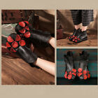 Women's Winter Leather Ankle Short Boot Autumn Warm Casual Flat Comfy Shoes