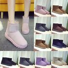 Women's Winter Suede Snow Ankle Boots Fur Lined Thicken Warm Comfy Flats Shoes