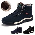 Men's Winter High Top Casual Ankle Snow Boots Warm Plush Sneakers Running Shoes