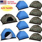 3-4 Person Outdoor Camping Waterproof Folding Hiking Tent Camouflage/Blue LOT TO