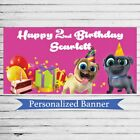 "18""x30"" Puppy Dog Pals Custom Party Banner Personalized Birthday Party Decor"