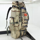 80L Waterproof Military Tactical Molle Backpack Camping Hiking Climbing Rucksack