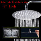 "6/8/9"" Stainless Steel Water Rainfall Overhead Round Square Large Shower Head"
