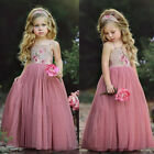 Kyпить USA Long Princess Girls Dress Flower Solid Baby Lace Party Gown Formal Dresses на еВаy.соm