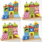 PRINCESS OR PIRATE WOOD WOODEN BUILDING BLOCKS STACKER TOWER BABY / TODDLER TOY