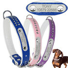 Personalized Dog Collars Bling Rhinestone Dog Necklace Soft Padded With D-ring
