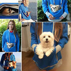Women's Hoodie Large Pocket Pet Dog Cat Kangaroo Holder Carrier Coat Pouch Tops