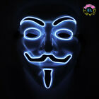 Glowing Anonymous Mask -  Carnival festival - 2xAA Driver and flashing options