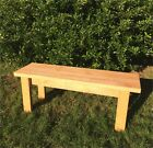 Wooden Garden Bench, Kitchen Seat - Rustic 3FT/4FT - Stained or Unstained